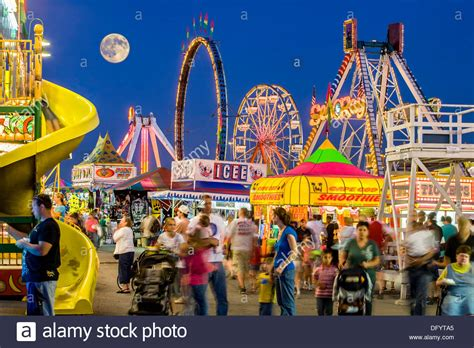 Full Moon And Midway, Great New York State Fair, Syracuse