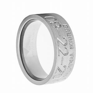 men39s banded together duck band wedding ring titanium buzz With duck band wedding rings for men