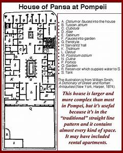 Labeled Roman House Floor Plan Roman House Layout  Roman