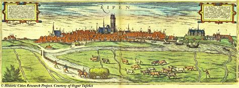 Map of Ribe, 1598, Braun and Hogenberg