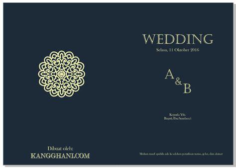 membuat undangan pernikahan  menarik kang ghani