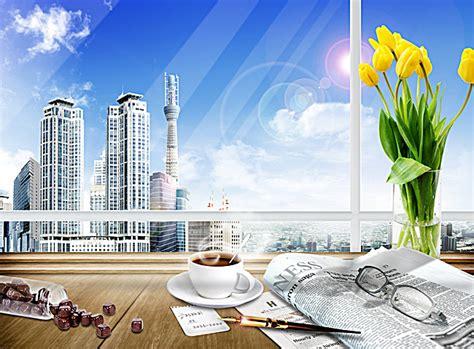 arriere plan de bureau bureau de l 39 arrangement floral de lunettes de café d