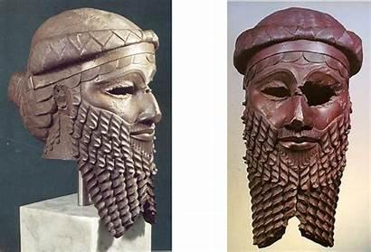 Head Akkadian Ruler Nineveh Copper Iraq Ancient
