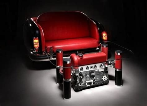 Car Parts Dismantled To Make Exquisite Coffee Tables And