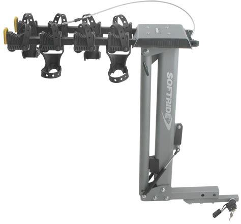 softride bike rack softride hydraulic assist dura tilting 4 bike rack for 1 1