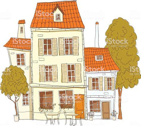 Jahrgang Homecomic Haus Stock Vektor Art Und Mehr Bilder