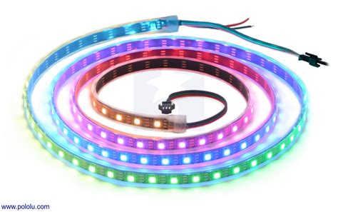 led strips rgb pololu addressable rgb 120 led 5v 2m ws2812b