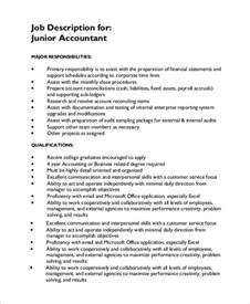 Sample Accounting Job Description 8 Examples In Pdf