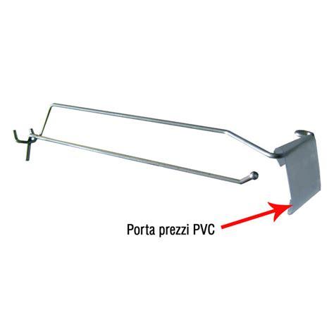 Porta Pvc Prezzi by Porta Prezzo In Pvc Per Ganci Con Asta Per Pannello Forato