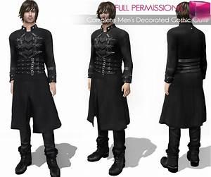 Meli Imako Full Perm Mesh Complete Men's Decorated Gothic