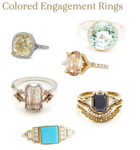 Fabulous Finds Colored Engagement Rings  Exquisite Weddings. Gold Band Rings For Him. Turquoise Gold Jewellery. Woman Gold Earrings. Designer Pendant. Saphire Engagement Rings. Male Bands. Charm Bracelet Beads. January Birthstone Bracelet