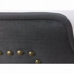Tete De Lit Cloutée : t te de lit clout e 180cm tissu gris pas cher british d co ~ Teatrodelosmanantiales.com Idées de Décoration
