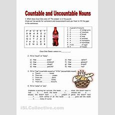 Countable And Uncountable Worksheet  English  Pinterest Worksheets