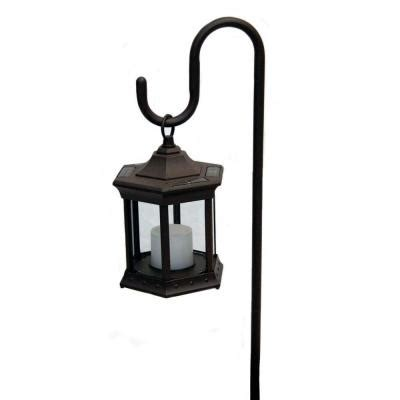 solar lantern with clear glass and shepherds hook sl shcg