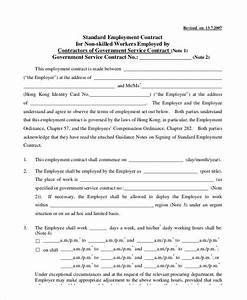 standard employment contract sample 7 examples in word pdf With standard contract of employment template