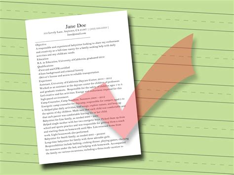 Things To Put On A Resume For Babysitting by How To Write A Resume For Babysitting With Sle Resumes