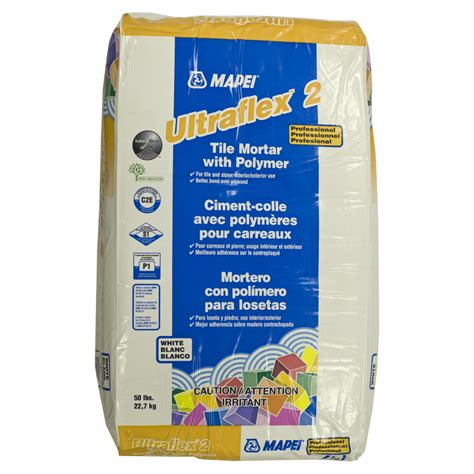 mapei tile mortar shop mapei white powder polymer modified thinset mortar at lowes com