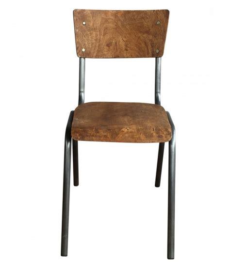 chaise antique en bois chaise écolier vintage bois et métal adulte wadiga com