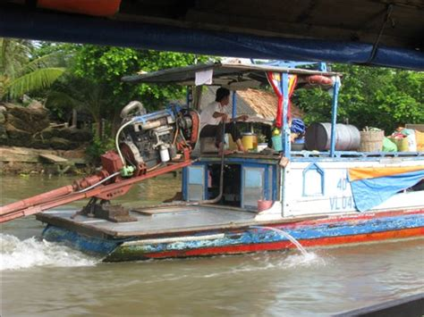 Boat With Car Engine by House Boat With A Car Engine Mekong River And An Binh