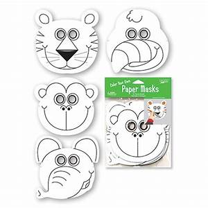 free coloring pages With jungle animal mask templates