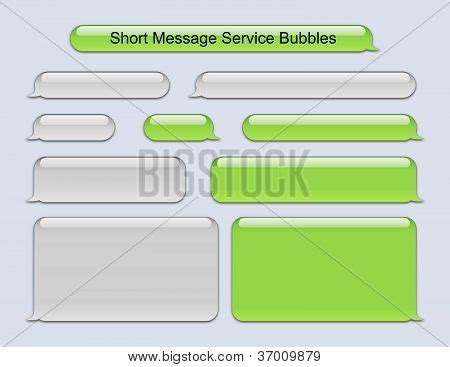 Sms Template Iphone by Stock Photo Of Message Service Bubbles Royalty Free