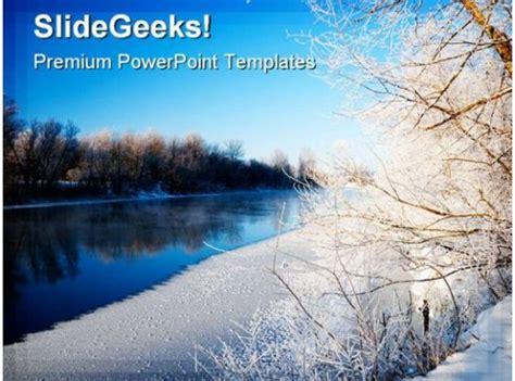 snowy winter beauty powerpoint background  template
