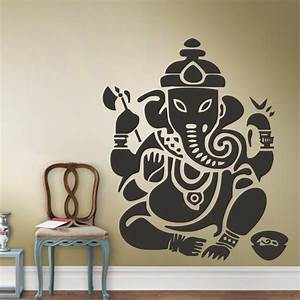 wall decal art decor sticker ganesh buddhism india indian With indian wall decor