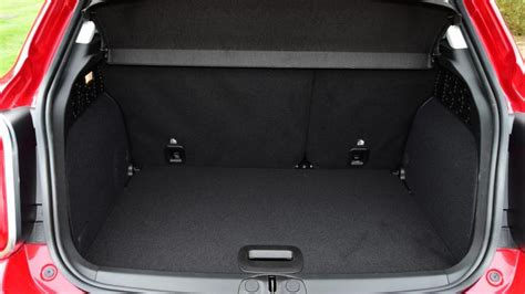 nissan juke interior trunk fiat 500x suv practicality boot space carbuyer