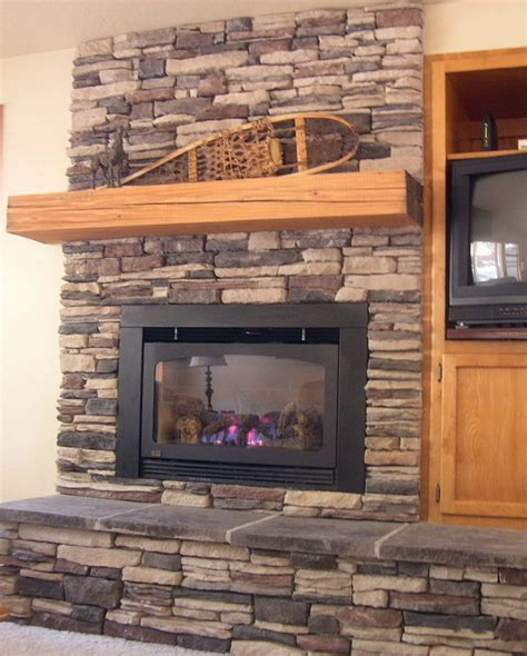 stacked tile fireplace surround home design ideas