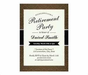 30 retirement party invitation design templates psd With free templates for retirement invitations