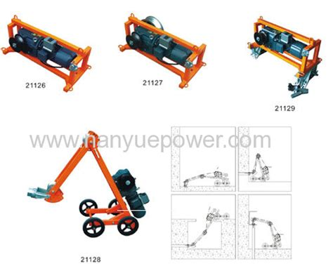 Powered Electric Cable Pulling Winch For Underground