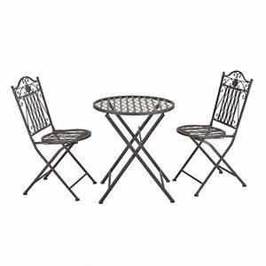 Gartenmöbel Tisch Metall : bistro set tisch 2 st hle essgruppe sitzgruppe gartenm bel metall ~ Markanthonyermac.com Haus und Dekorationen