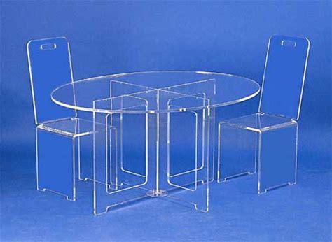 table plexiglass ovale
