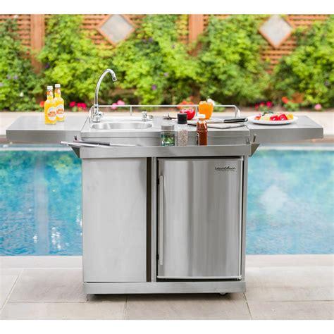 kitchen sinks okc leisure season 62 in stainless steel outdoor kitchen cart