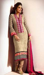 Bollywood Salwar Kameez Churidar Featured on Sonali Bendre ...