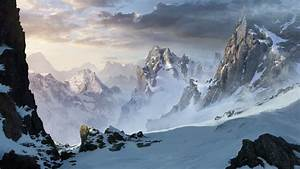 Snowy mountains by ARTek92 on DeviantArt