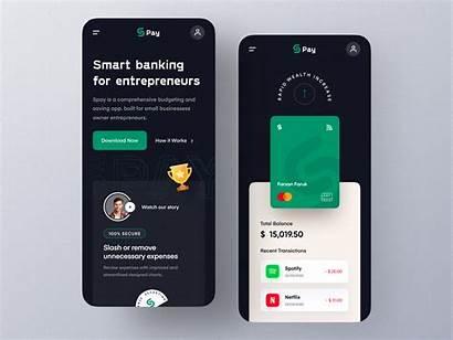 Mobile Landing Version Money App Management Ui