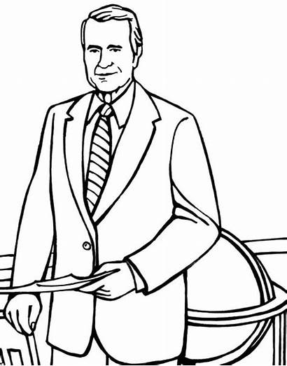 Coloring Bush Pages George Business Getdrawings Drawing
