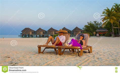 Relaxing Sunny Maldives Stock Photo Cartoondealer