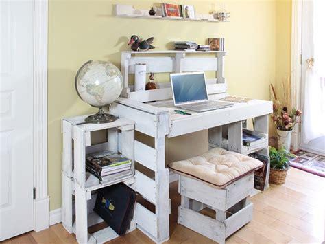 bureau palette collection bureau modulaires en palettes récupérées