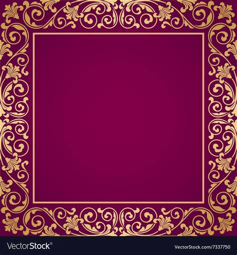 Floral pattern for invitation card vector image on