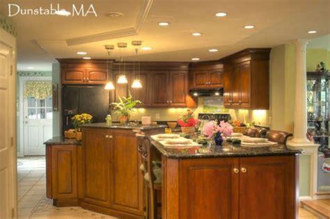 cherry wood kitchen multi level island  separate task