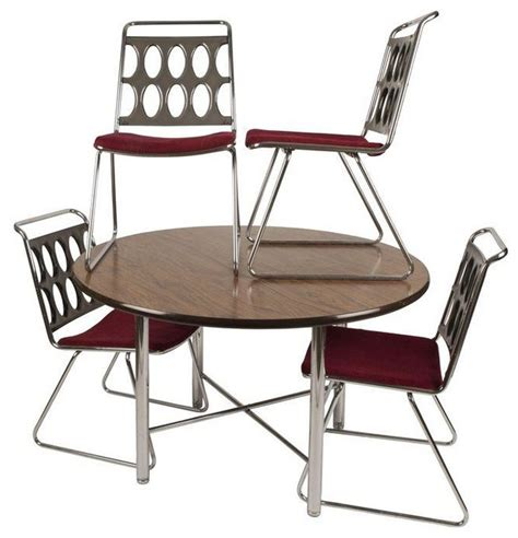 used chromcraft smoked lucite and chrome dinette