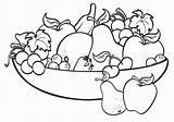 Coloring Salad Fruit Bowl sketch template