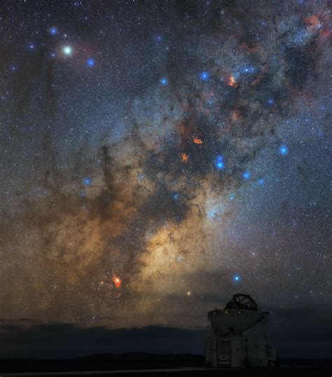 antares overlooking  auxiliary telescope eso
