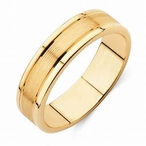 men39s wedding band in 10ct yellow gold With gold ring wedding band