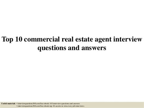 top 10 commercial real estate questions