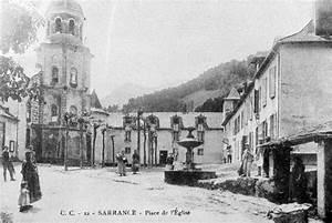 La Place De L U0026 39  U00e9glise  U00e0 Sarrance  Autrefois
