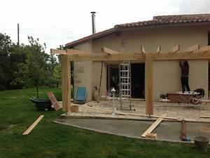 Couverture De Terrasse : couverture de terrasse avec charpente en douglas mericq ~ Edinachiropracticcenter.com Idées de Décoration