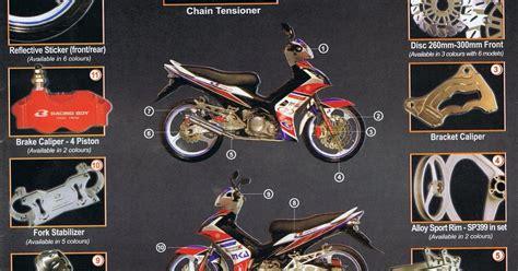 motomalaya racing boy yamaha 135lc parts advertisement